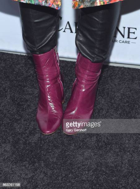 Singer JoJo boot detail attends the 2017 CareOne Masquerade Ball for Puerto Rico Relief Effort at Skylight Clarkson North on October 19 2017 in New...