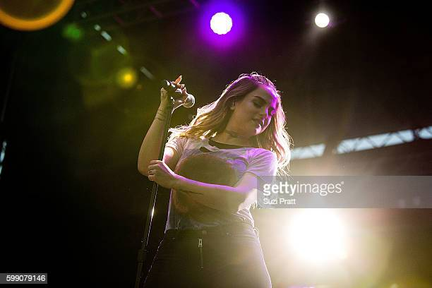 Singer JoJo performs at Bumbershoot at Seattle Center on September 3 2016 in Seattle Washington