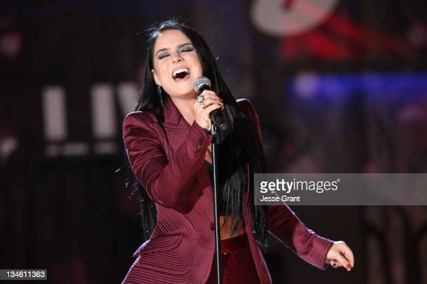 Singer JoJo performs at the 4th Annual Holiday Tree Lighting at LA LIVE on December 2 2011 in Los Angeles California