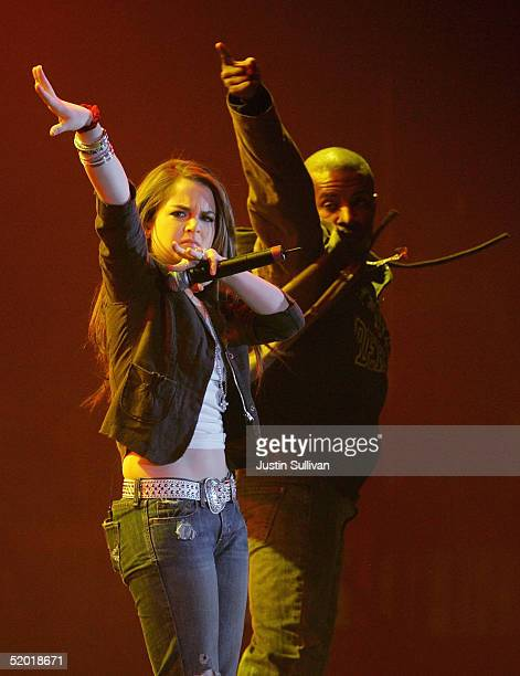 """Singer JoJo performs at the """"Youth Concert"""" hosted by Jenna and Barbara Bush at the DC Armory, January 18, 2005 in Washington DC. The concert is one..."""
