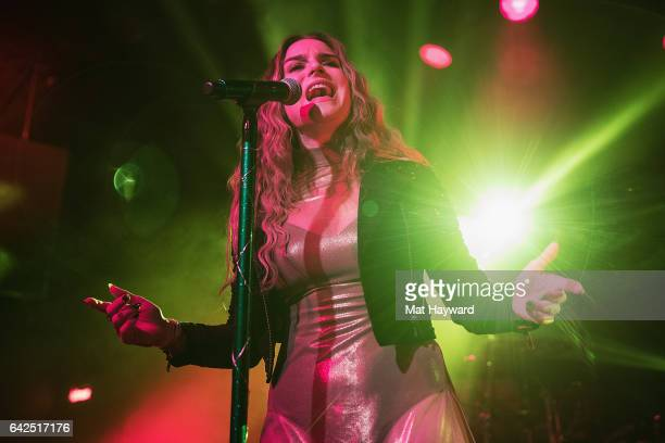 Singer JoJo performs on stage during the 'Mad Love' tour at The Showbox on February 17 2017 in Seattle Washington