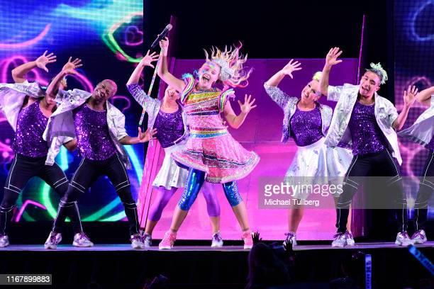 Singer JoJo Siwa performs at Honda Center on August 13, 2019 in Anaheim, California.