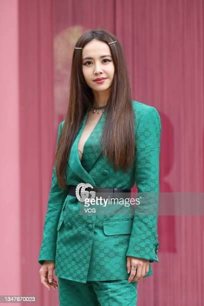 Singer Jolin Tsai attends an art exhibition opening event on October 20, 2021 in Taipei, Taiwan of China.