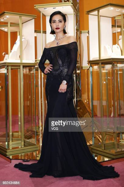 Singer Jolin Tsai attends Bvlgari FESTA event on March 15 2018 in Taipei Taiwan