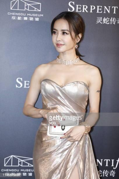 Singer Jolin Tsai attends Bvlgari Serpenti Form event on April 29 2019 in Chengdu Sichuan Province of China
