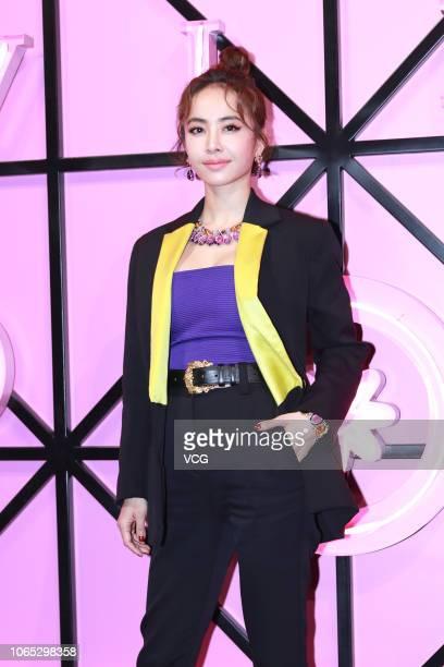Singer Jolin Tsai attends Bvlgari Wild Pop event on November 8 2018 in Beijing China