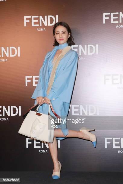 Singer Jolin Tsai attends the opening banquet of Fendi Peekaboo Project on October 19 2017 in Hong Kong China