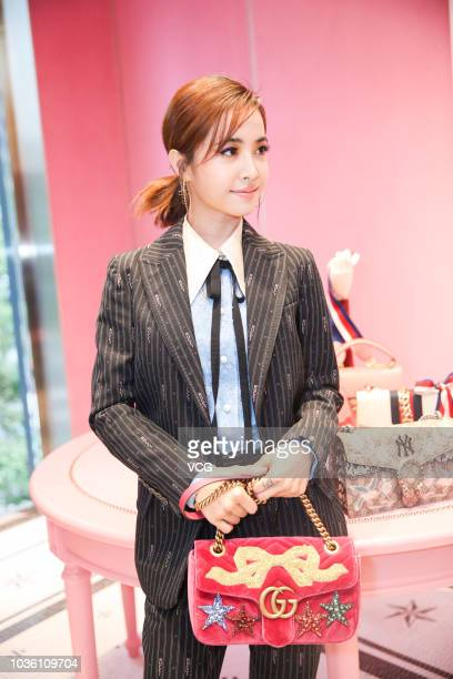 Singer Jolin Tsai attends the opening ceremony of Gucci flagship store on September 13 2018 in Chengdu Sichuan Province of China