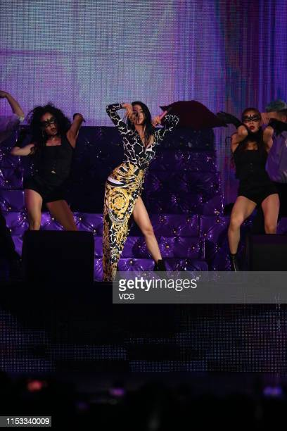 Singer Jolin Tsai performs onstage during the 2019 Hito Music Awards on June 2 2019 in Taipei Taiwan of China