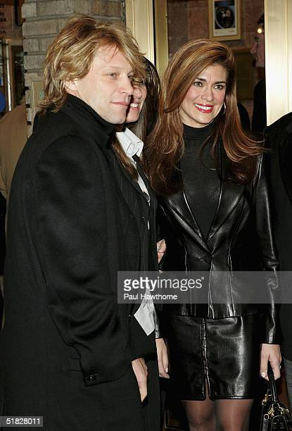 Singer Jon Bon Jovi and guests attends the opening night of 700 Sundays at the Broadhurst Theatre December 5 2004 in New York City
