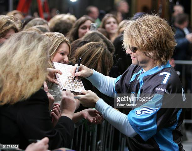 Singer Jon Bon Jovi from the music group Bon Jovi makes an appearance on The Today Show on November 23 2004 in New York City