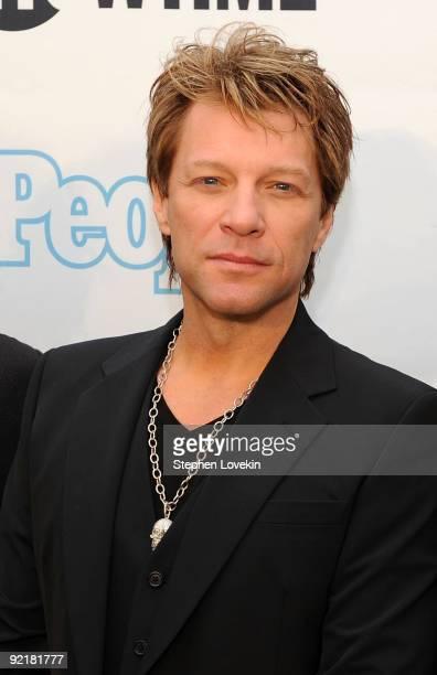 Singer Jon Bon Jovi of Bon Jovi attends the Bon Jovi When We Were Beautiful New York premiere at the SVA Theater on October 21 2009 in New York City