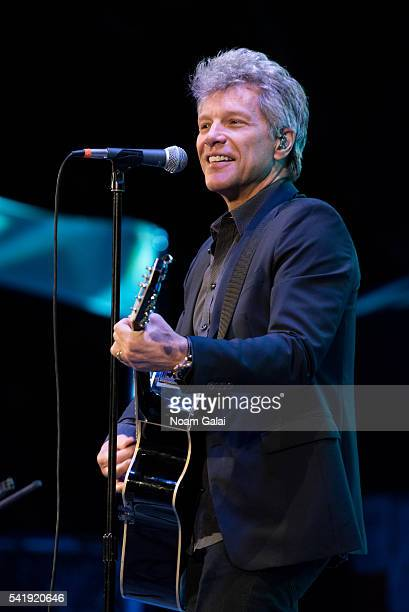 Singer Jon Bon Jovi performs at the 2016 City Parks Foundation gala at Rumsey Playfield Central Park on June 20 2016 in New York City
