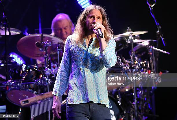 Singer Jon Davison of British Rock Group Yes performs during a concert at Admiralspalast on May 27 2014 in Berlin Germany