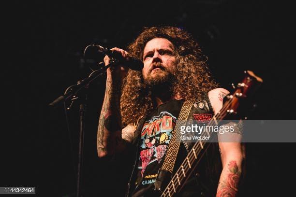 Singer Jon Harvey of the Canadian band Monster Truck performs live on stage during a concert at Huxleys Neue Welt on May 17 2019 in Berlin Germany