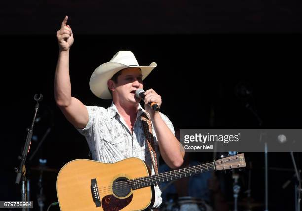 Singer Jon Pardi poses during the 2017 Daytime Village at the iHeartCountry Festival A Music Experience by ATT at The Frank Erwin Center on May 6...