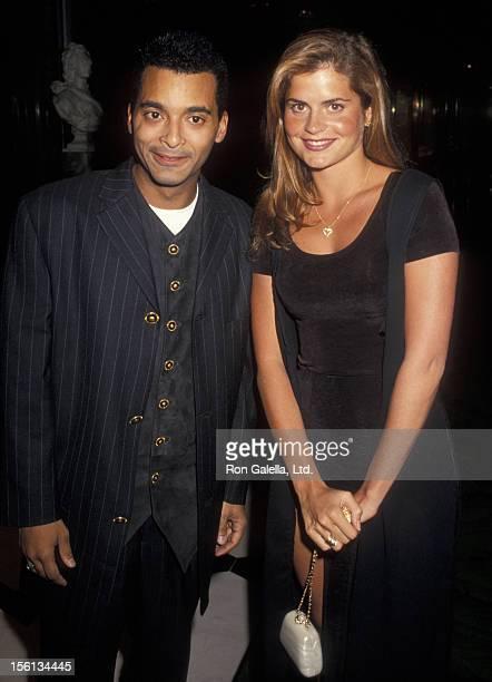 Singer Jon Secada and Franseska attending 'BMI Latin Awards' on March 10 1994 at the Fountainblue Hotel in Miami Florida