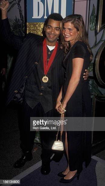 Singer Jon Secada and Franseska attending 'BMI Latin Awards' on March 10 1994 at the Fountainblue Hotel in Miami Florida