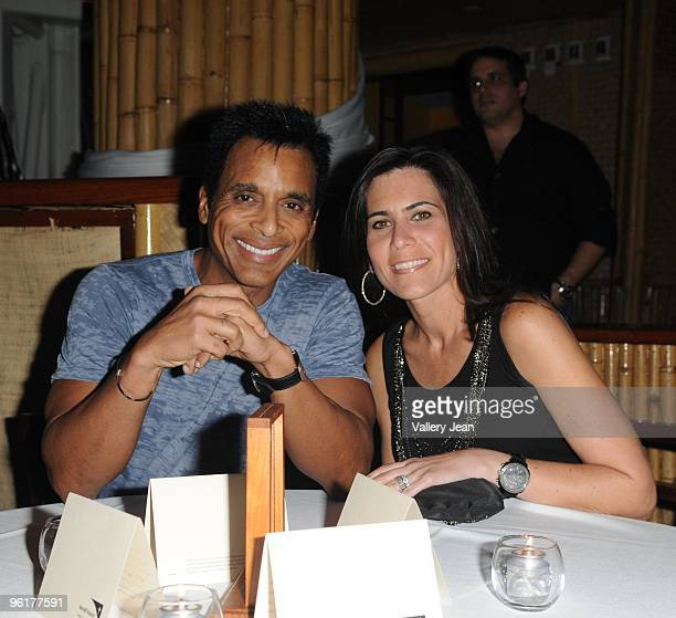 Singer Jon Secada and wife Maritere Vilar attends Operation Hope For Haiti benefit at Bongos on January 24 2010 in Miami Florida