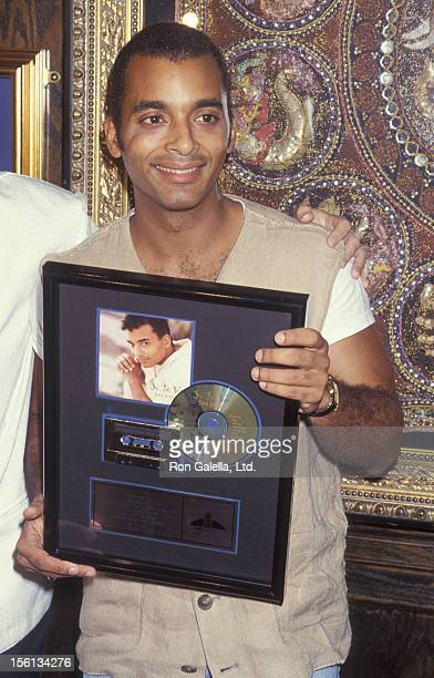Singer Jon Secada attending 'Double Platinum Album Donation Gala' on December 1 1994 at the Hard Rock Cafe in Miami Florida