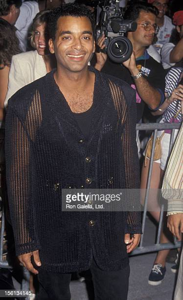 Singer Jon Secada attending 'Grand Opening of Planet Hollywood' on May 15 1994 at Coconut Grove in Miami Florida