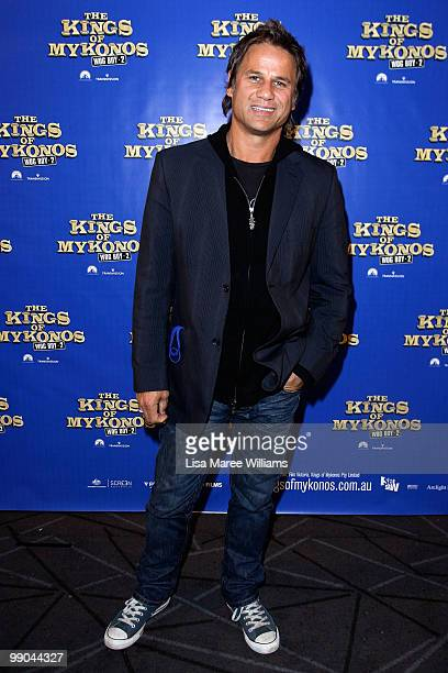 Singer Jon Stevens attends the premiere of 'The Kings of Mykonos Wog Boy 2' at Event Cinemas Bondi Junction on May 12 2010 in Sydney Australia