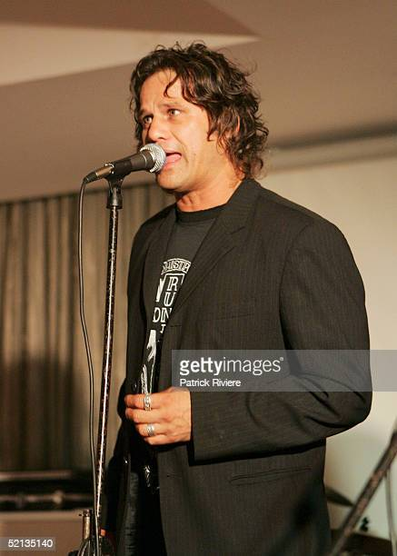 Singer Jon Stevens performs at the Gift Of Life Charity event at the New South Wales League Club January 4 2005 in Sydney Australia The event is to...