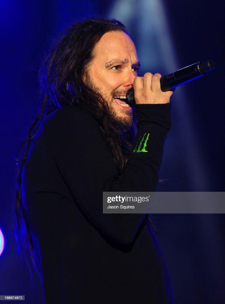 Singer Jonathan Davis of Korn performs during 2013 Rock On The Range at Columbus Crew Stadium on May 17, 2013 in Columbus, Ohio.