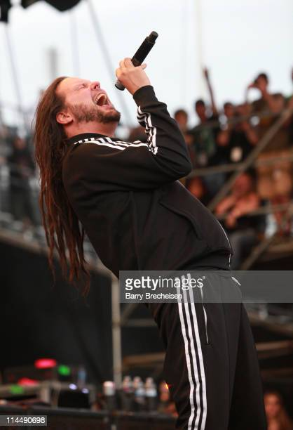 Singer Jonathan Davis of Korn performs during the 2011 Rock On The Range festival at Crew Stadium on May 21 2011 in Columbus Ohio