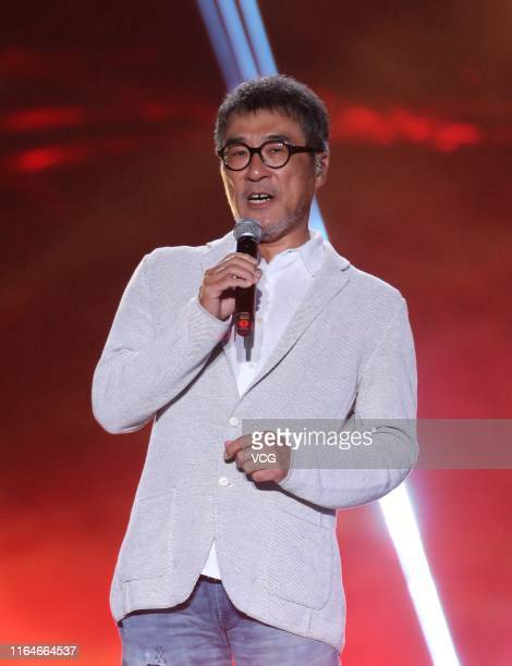 Singer Jonathan Lee performs during the closing ceremony of the 5th Jackie Chan International Action Film Week at Datong Stadium on July 27, 2019 in...
