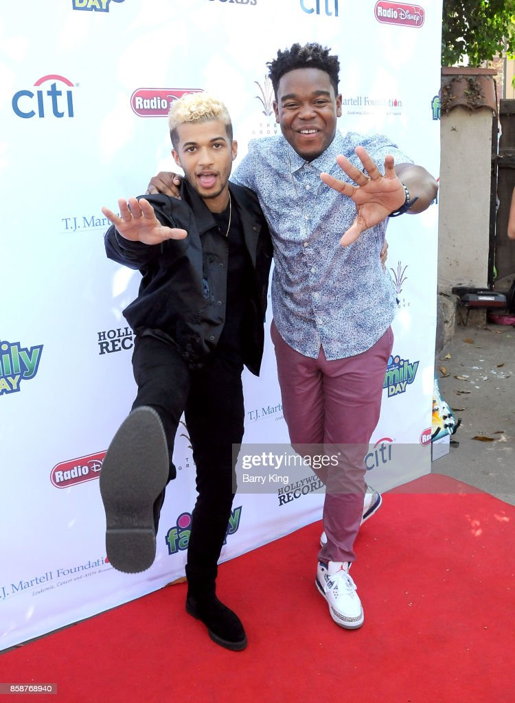 Singer Jordan Fisher and actor Dexter Darden attend T.J. Martell Foundation Family Day at The Grove on October 7, 2017 in Los Angeles, California.