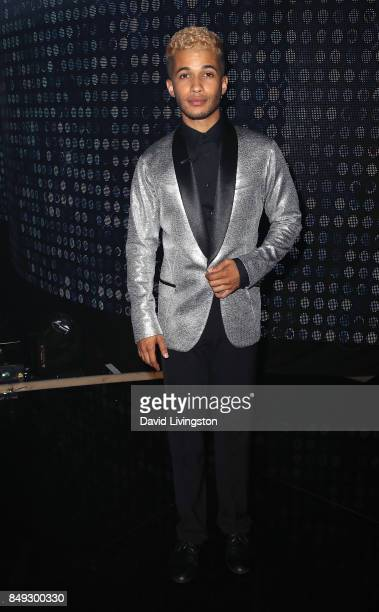Singer Jordan Fisher attends 'Dancing with the Stars' season 25 at CBS Televison City on September 18 2017 in Los Angeles California