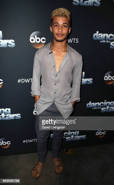 Singer Jordan Fisher attends 'Dancing with the Stars' season 25 at CBS Televison City on October 9 2017 in Los Angeles California