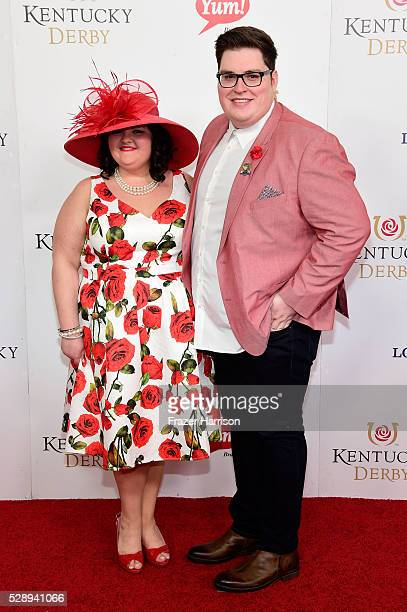 Singer Jordan Smith and his girlfriend Kristen Denny attend the 142nd Kentucky Derby at Churchill Downs on May 07 2016 in Louisville Kentucky