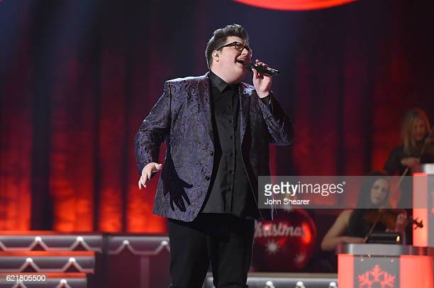 Singer Jordan Smith performs on stage during the CMA 2016 Country Christmas on November 8 2016 in Nashville Tennessee