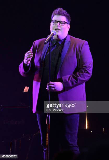 Singer Jordan Smith performs onstage at the Sir Lucian Grainge's 2017 Artist Showcase presented by American Airlines and Citi at Ace Hotel on...