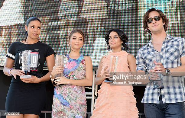 Singer Jordin Sparks actors Sarah Hyland Vanessa Hudgens and Diego Boneta attend Variety's Power of Youth presented by Cartoon Network held at...