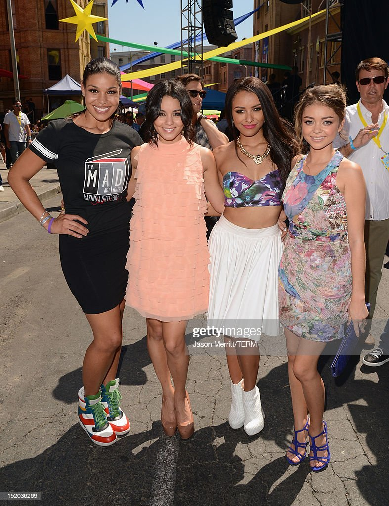 Singer Jordin Sparks and actors Vanessa Hudgens, Kat Graham and Sarah Hyland attend Variety's Power of Youth presented by Cartoon Network held at Paramount Studios on September 15, 2012 in Hollywood, California.