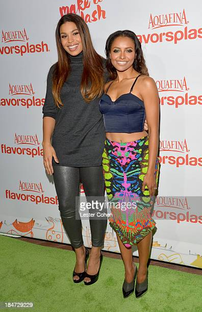Singer Jordin Sparks and actress Kat Graham attend Aquafina Launch of FlavorSplash at Sony Pictures Studios on October 15 2013 in Culver City...