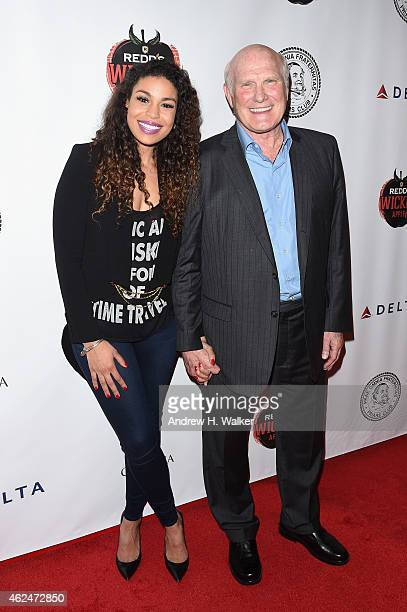 Singer Jordin Sparks and honoree Terry Bradshaw attend the Friars Club Roast of Terry Bradshaw during the ESPN Super Bowl Roast at the Arizona...