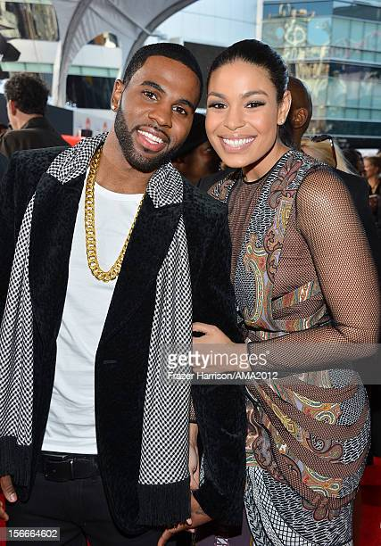 Singer Jordin Sparks and Jason Derulo attend the 40th American Music Awards held at Nokia Theatre LA Live on November 18 2012 in Los Angeles...