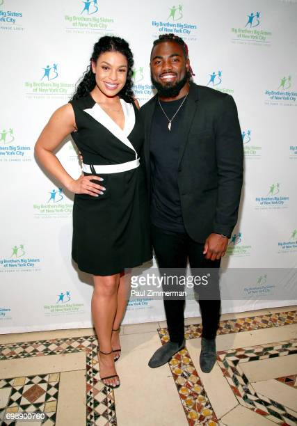 Singer Jordin Sparks and NFL player New York Giants Landon Collins attend the 18th Annual Big Brothers Big Sisters Of NYC Casino Jazz Night at...