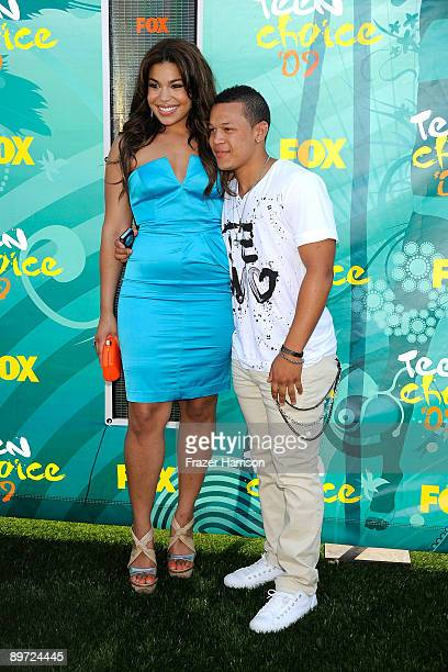Singer Jordin Sparks and Pj Sparks arrives at the 2009 Teen Choice Awards held at Gibson Amphitheatre on August 9 2009 in Universal City California
