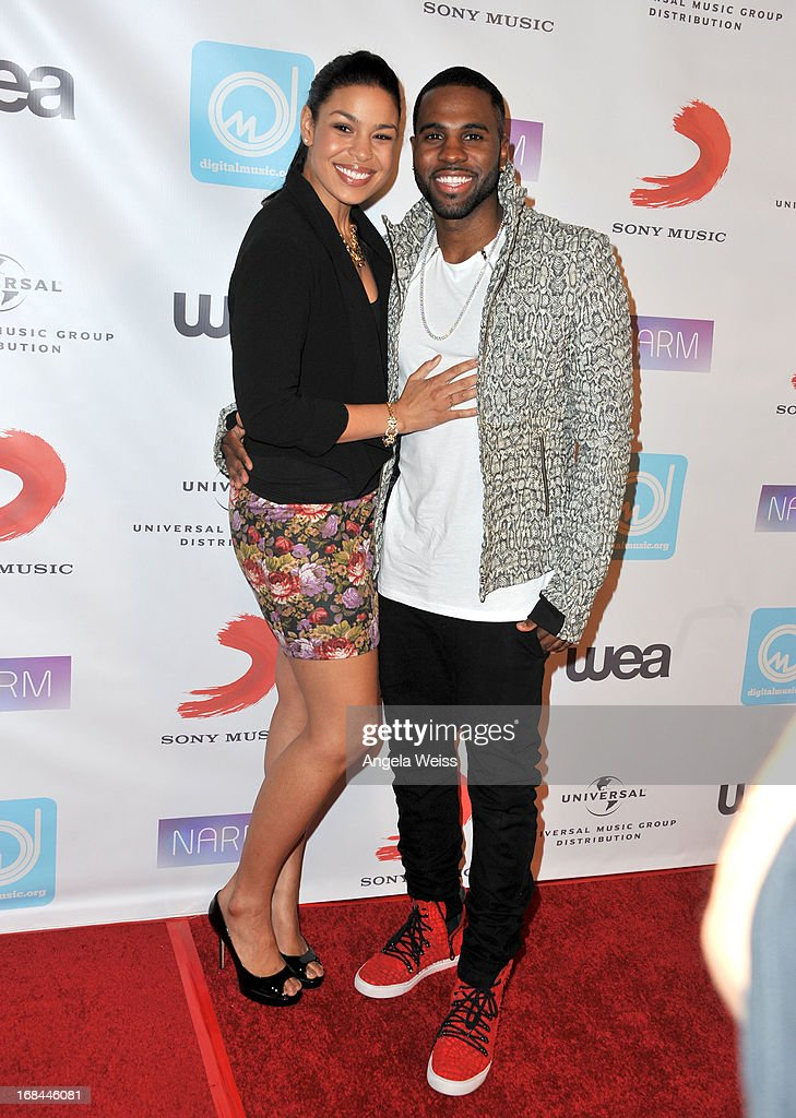 Singer Jordin Sparks and singer Jason Derulo attend the 2013 Music Biz Awards presented by NARM and digitalmusic.org at the Hyatt Regency Century Plaza on May 9, 2013 in Century City, California.
