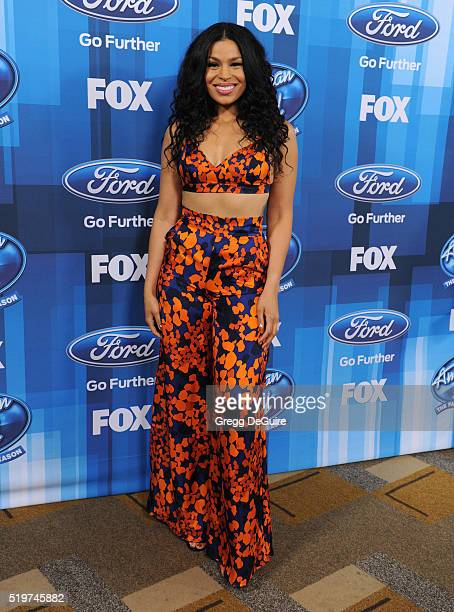 Singer Jordin Sparks arrives at FOX's 'American Idol' Finale For The Farewell Season at Dolby Theatre on April 7 2016 in Hollywood California