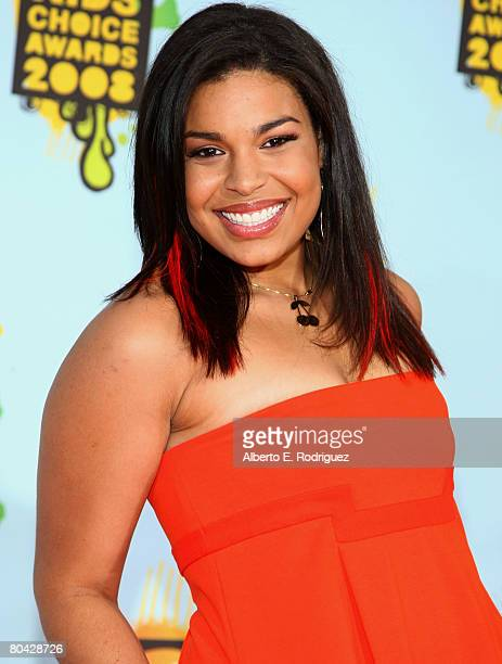 Singer Jordin Sparks arrives at Nickelodeon's 2008 Kids' Choice Awards held at UCLA's Pauley Pavilion on March 29 2008 in Westwood California