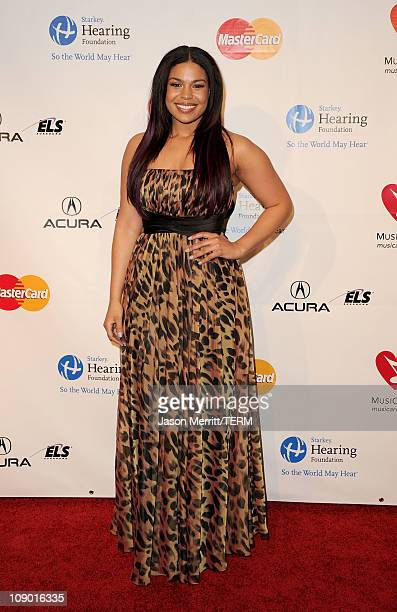 Singer Jordin Sparks arrives at the 2011 MusiCares Person of the Year Tribute to Barbra Streisand held at the Los Angeles Convention Center on...