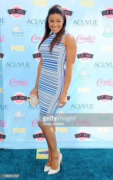 Singer Jordin Sparks arrives at the 2013 Teen Choice Awards at Gibson Amphitheatre on August 11, 2013 in Universal City, California.