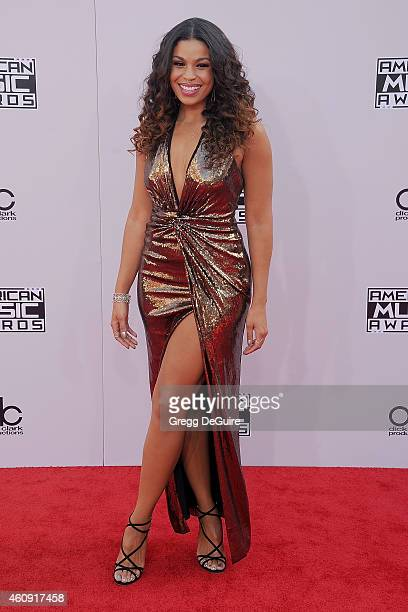Singer Jordin Sparks arrives at the 2014 American Music Awards at Nokia Theatre LA Live on November 23 2014 in Los Angeles California