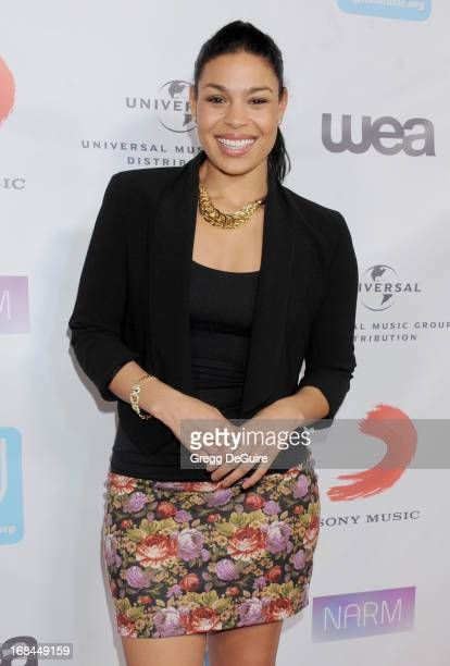 Singer Jordin Sparks arrives at the NARM Music Biz Awards dinner party at the Hyatt Regency Century Plaza on May 9 2013 in Century City California
